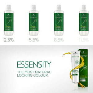 schwarzkopf essensity oil developer 1000ml  2.5%, 5.5%, 8.5% 11% organic natural