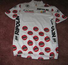 "TOUR DE FRANCE 1990 RIPOLIN POLKA DOT KOM CASTELLI ITALIAN CYCLING JERSEY [41""]"