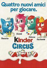 X7441 Kinder Circus - 4 nuovi amici per giocare - Pubblicità del 1991 - Advert