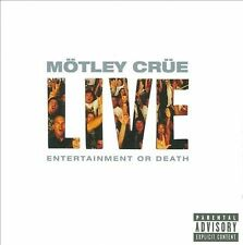 FREE US SHIP. on ANY 3+ CDs! NEW CD Motley Crue: Live: Entertainment Or Death (C