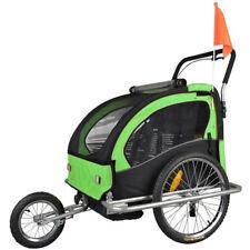 Convertible Jogger Remorque à Vélo 2 en 1, pour enfants Remorque LEMON vert