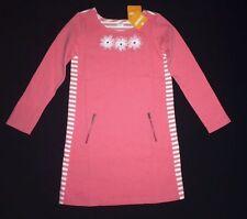 NWT Gymboree Girls Size 12 Kitty In Pink Daisy Stripe Shift Dress Long Sleeved