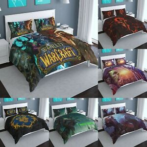 World of Warcraft 3Pcs Duvet Cover Pillowcases All Sizes Bedding Comforter Cover