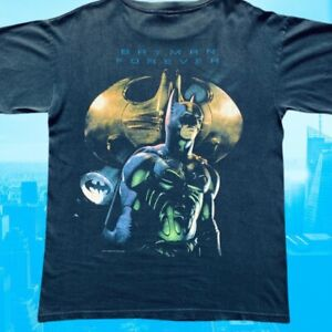 Vintage 1995 Batman Forever Movie Promo Mens Black T-Shirt Size Large Giant