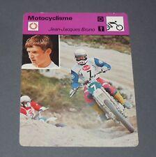 FICHE MOTO JEAN-JACQUES BRUNO FRANCE MOTOCROSS 250 CC PILOTE COURSES