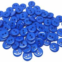 lot de 20 bouton scrapbooking 2 trou bleu royal mercerie couture 11 mm couture
