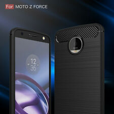 HOT Selling For Motorola Moto Z Force Droid Brushed Carbon Fiber Case Cover