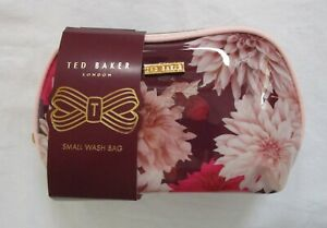 NEW Ted Baker Pink Floral Small Wash Bag - Gift