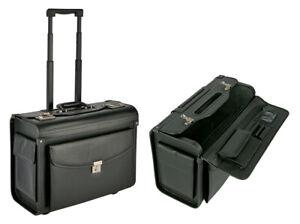 Pilotenkoffer mit Rollen Trolley XXL Aktenkoffer Businesskoffer Reisekoffer