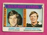 1974-75 OPC  # 2 BRUINS BOBBY  ORR  LEADERS GOOD CARD (INV# C1773)