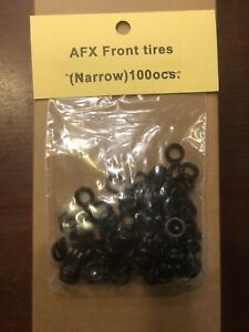 Compatible with Aurora slot car AFX FRONT NARROW silicone compound tires 100 bag