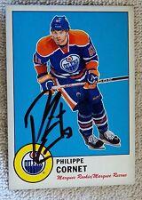 Edmonton Oilers Philippe Cornet Signed 12/13 O-Pee-Chee Retro Rookie Card Auto