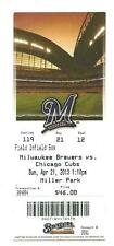 Milwaukee Brewers Chicago Cubs 4/16/2013 Ticket Stub Ryan Braun Home Run L@@K !
