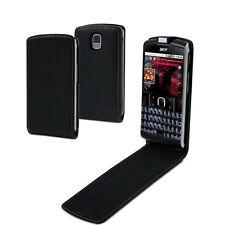 ACER BeTouch E210 - Housse Etui à clapet Cuir Slim NOIR + 1 protection écran