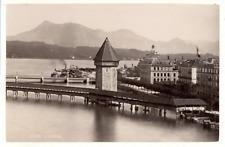 Suisse, Luzern Vintage albumen print.  Tirage albuminé  10x14  Circa 1880