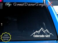 Colorado Girl Mountains Style #1 Vinyl Decal Sticker / Color - HIGH QUALITY