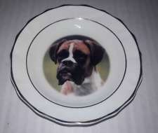 "Boxer Dog Mini Collectible Plate 4 3/4"" Diameter Faithful Friends"
