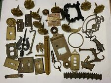 Antique Lot Architectural Salvage Junk Brass Outlet Covers Knobs Hinges Hardware
