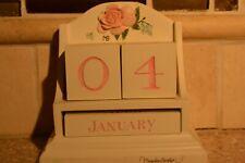Hallmark Marjolein Bastin Pink Rose Perpetual Block Calendar Euc (P)