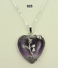 Heart Handmade Amethyst Stone Costume Necklaces & Pendants