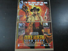 DUKE NUKEM ZERO HOUR Nintendo N64 2-Page Ad Promo Poster Authentic Original