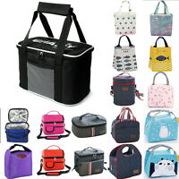 Insulated Bags Portable Thermal Cool Hot Food Picnic Lunchbox Adult Children