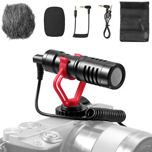 Universal Video Microphone w/ Shock Mount Compatiable w/ smartphones, DSLR