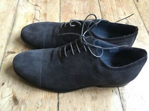 ASK THE MISSUS Grey Suede leather Mens Lace Up toe cap Shoes UK 9 new EU 43 BNIB