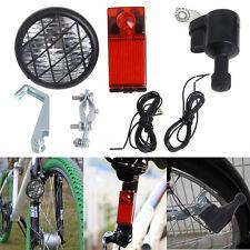 Motorized Bike Bicycle Friction Generator Dynamo Head Tail Light Acessories New