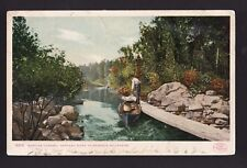 c1906 canoe Martins Channel Saranac River Adirondack mountains New York postcard