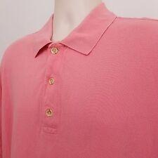 Callaway Pique Polo Shirt Men's Size Large L Pink Short Sleeve Big Bertha Golf