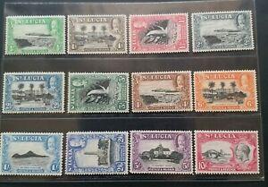ST. LUCIA 1936 KG V 1/2d to 10s SG 113 - 124 Sc 95 - 106 pictorial set 12 MLH