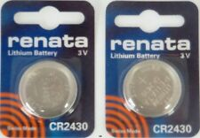 CR2430 RENATA WATCH BATTERIES 2430 (2 piece) New packaging Authorized Seller