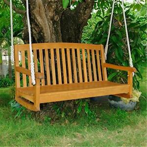 Solid Acacia Wood 2 Seater Swing Water-resistant and UV Light Fading Protection