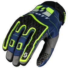 GUANTI DA ENDURO GLOVES MOTO SCOTT MX ENDURO BLU GIALLO FLUO YELLOW NEON TG M