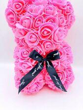 25cmRose Bear Teddy Bear Forever Artificial Rose Anniversary Christmas Valentine