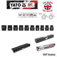 Yato Profesional impacto Power Llave Set de vasos 1.3cm corto 10pcs 10-22mm