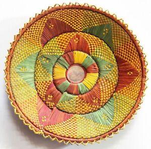 "12"" Inch Hand Woven Southwestern Design Handmade Coil Basket Brbsf-195"