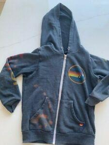 Aviator Nation Kids Charcoal Sweatshirt / Bleach stains / Worn / Size 12
