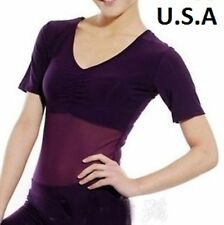 *USA STORE*   Mesh Sheer Leotard Bodysuit Top Bodystocking Belly Dance Carnival
