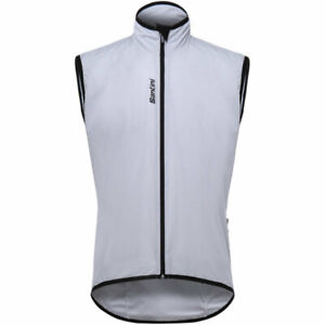 Santini Scudo Cycling Wind Vest in White - Made in Italy