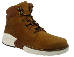 Mens Timberland Brown Leather Mid Outdoor Hiking Walking Boots Shoes Size UK 8.5