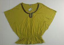 Women's TU top blouse  green color size 12 BNWT