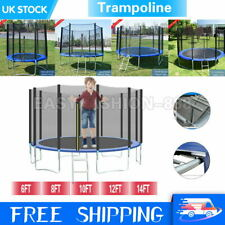 Heavy Duty Trampoline Set Enclosure Safe Net Spring Cover Outdoor 6 8 10 12 14FT