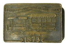 Vintage San Francisco Trolley Car 1873 1026 Heavy Metal Belt Buckle