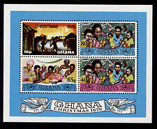 OPC 1976 Ghana Christmas Imperf Souvenir Sheet Sc#600 MNH