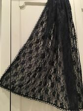 Elegant Formal Evening Lace Net Scarf/Shawl/Wrap/Stole,Black