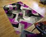 Moderne Sculpté à la Main Aurora Abstrait Design Qualité Épais Doux Tapis Room