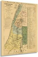 HISTORIX Vintage 1881 The Journeys and Deeds of Jesus Map - Biblical Map