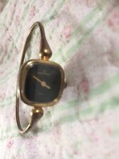 Beautiful MICHEL HERBELIN PARIS vintage Gold Plated Bangle Watch. Manual Winding